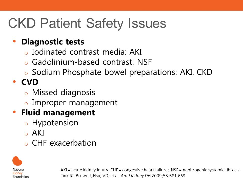 CKD Patient Safety Issues