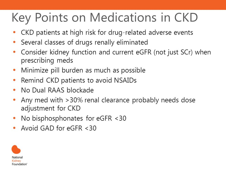 Key Points on Medications in CKD