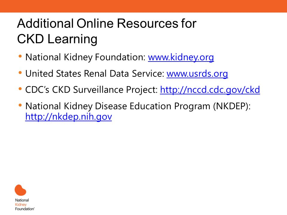 Additional Online Resources for CKD Learning