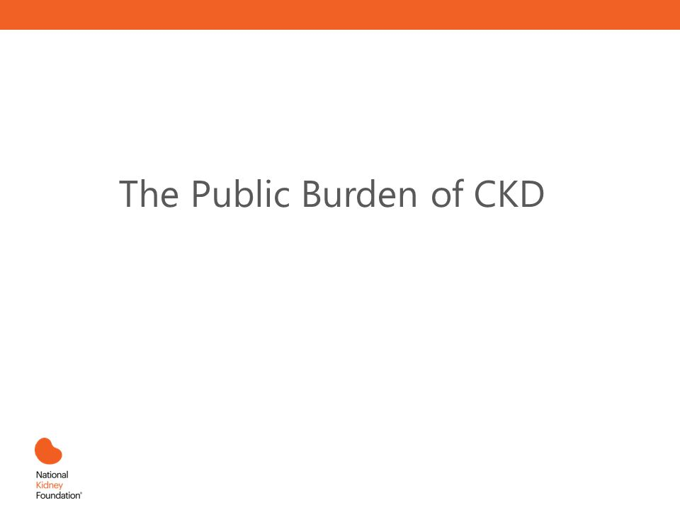 The Public Burden of CKD