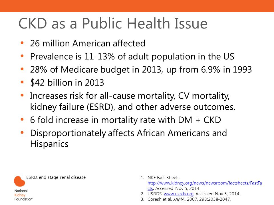 CKD as a Public Health Issue