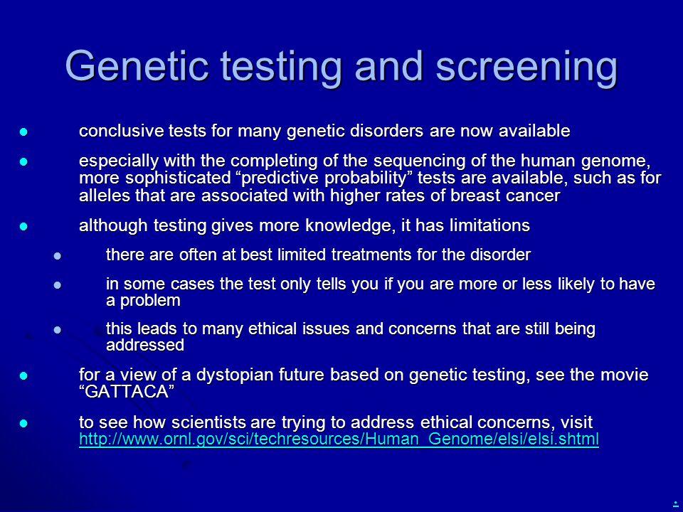 Genetic testing and screening