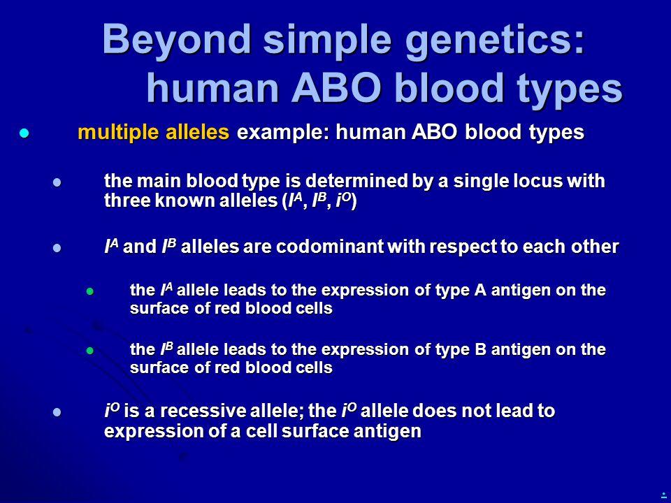 Beyond simple genetics: human ABO blood types