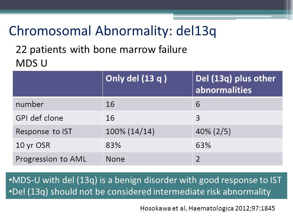 Chromosomal Abnormality: del13q