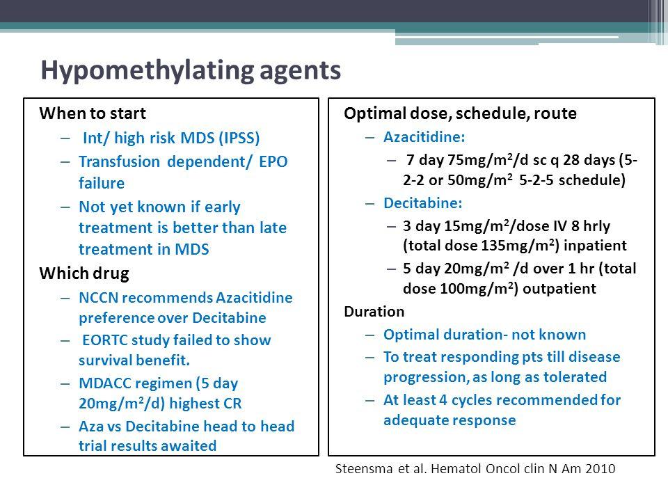 Hypomethylating agents