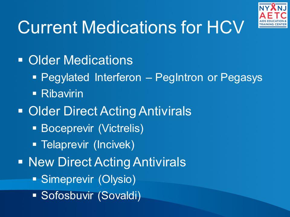 Current Medications for HCV