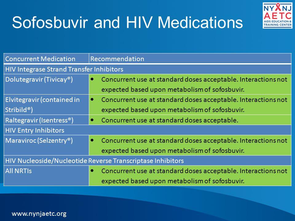 Sofosbuvir and HIV Medications