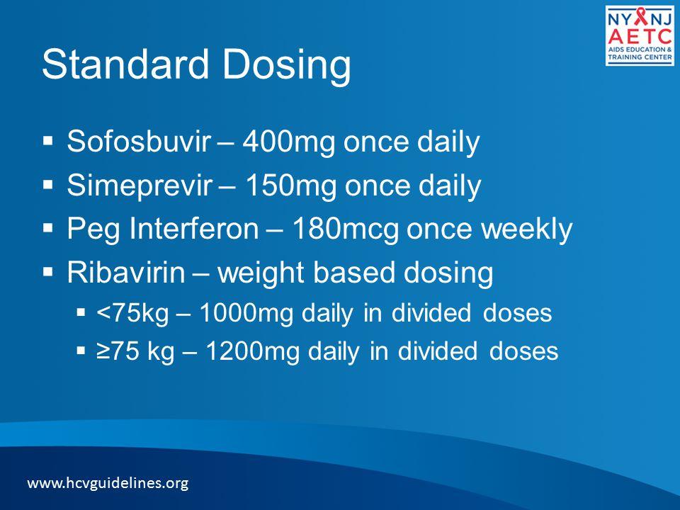 Standard Dosing Sofosbuvir – 400mg once daily
