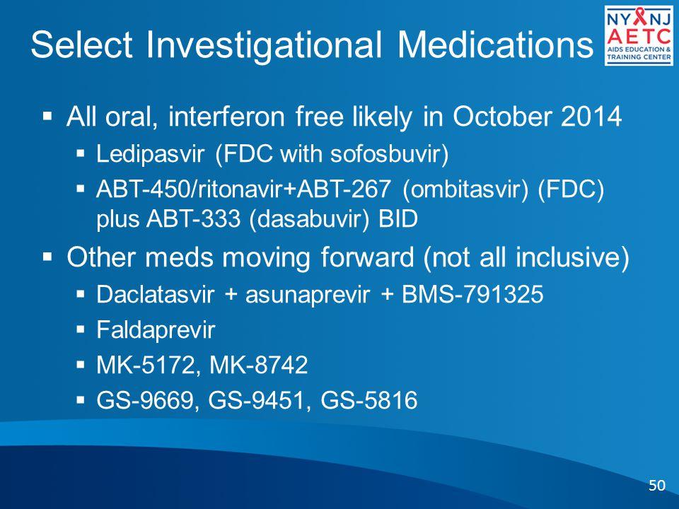 Select Investigational Medications