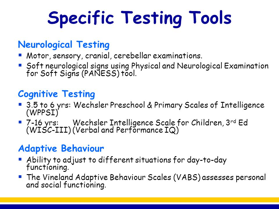 Specific Testing Tools
