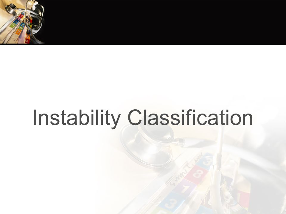 Instability Classification
