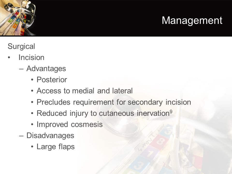 Management Surgical Incision Advantages Posterior
