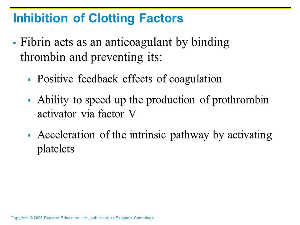 Inhibition of Clotting Factors
