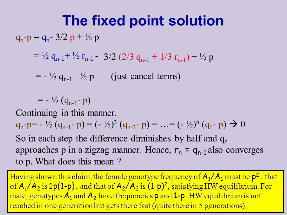 The fixed point solution