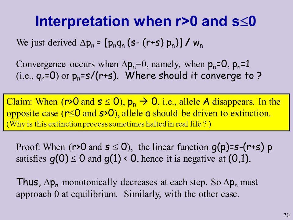 Interpretation when r>0 and s0