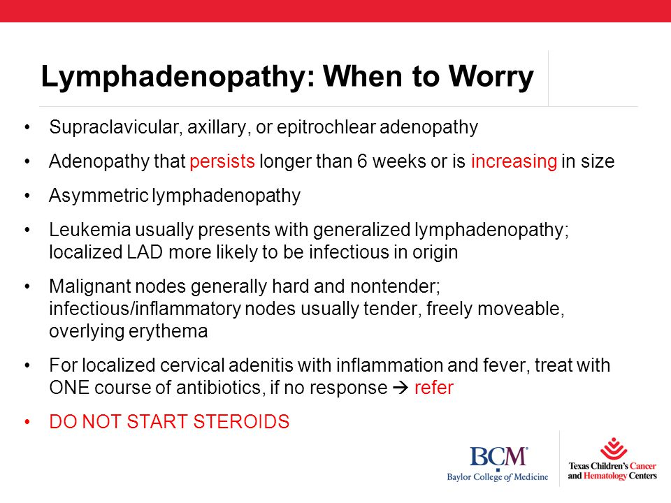 Lymphadenopathy: When to Worry