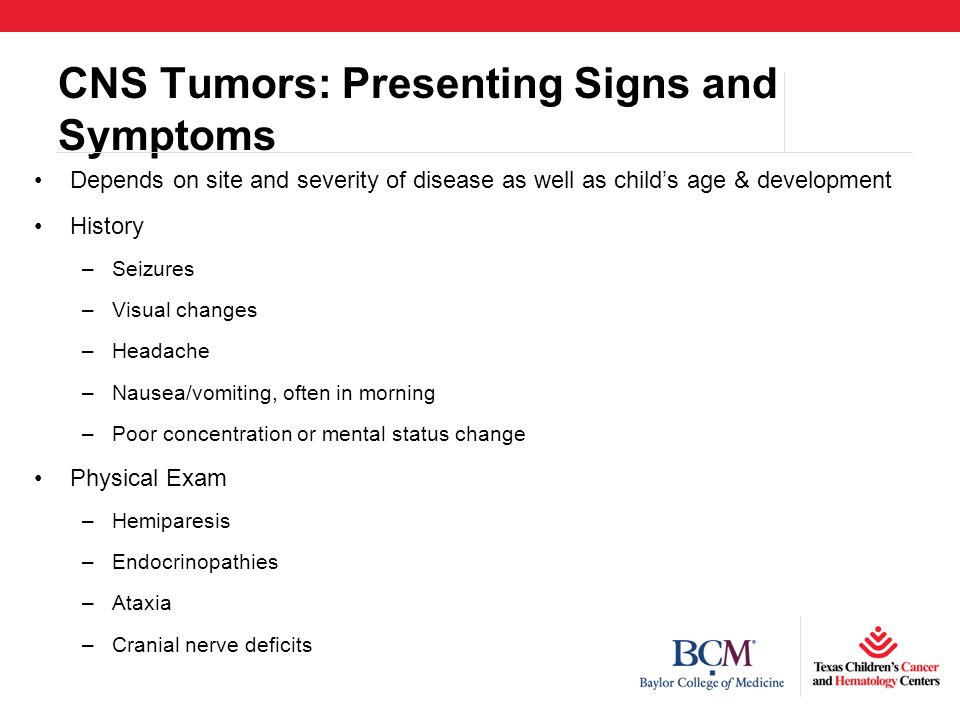 CNS Tumors: Presenting Signs and Symptoms