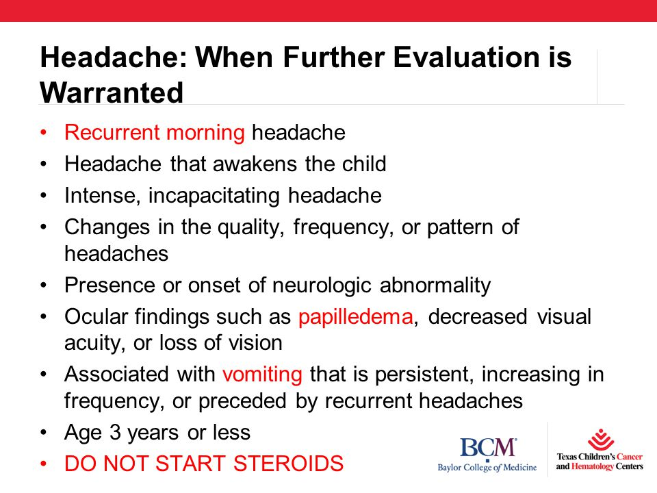 Headache: When Further Evaluation is Warranted