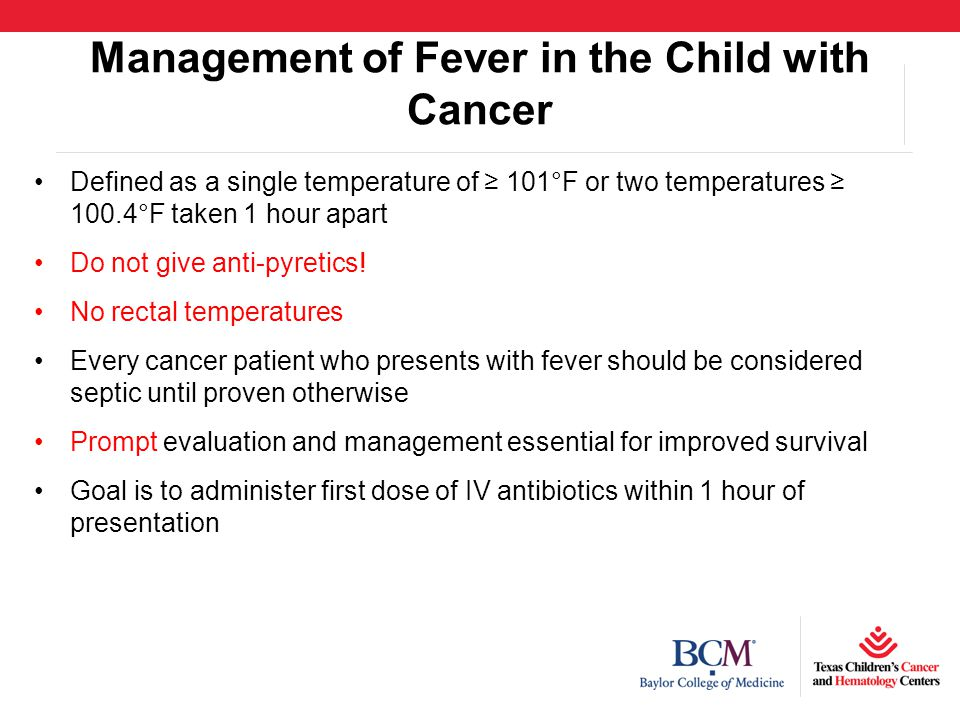 Management of Fever in the Child with Cancer