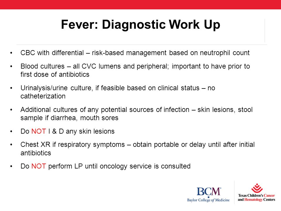Fever: Diagnostic Work Up