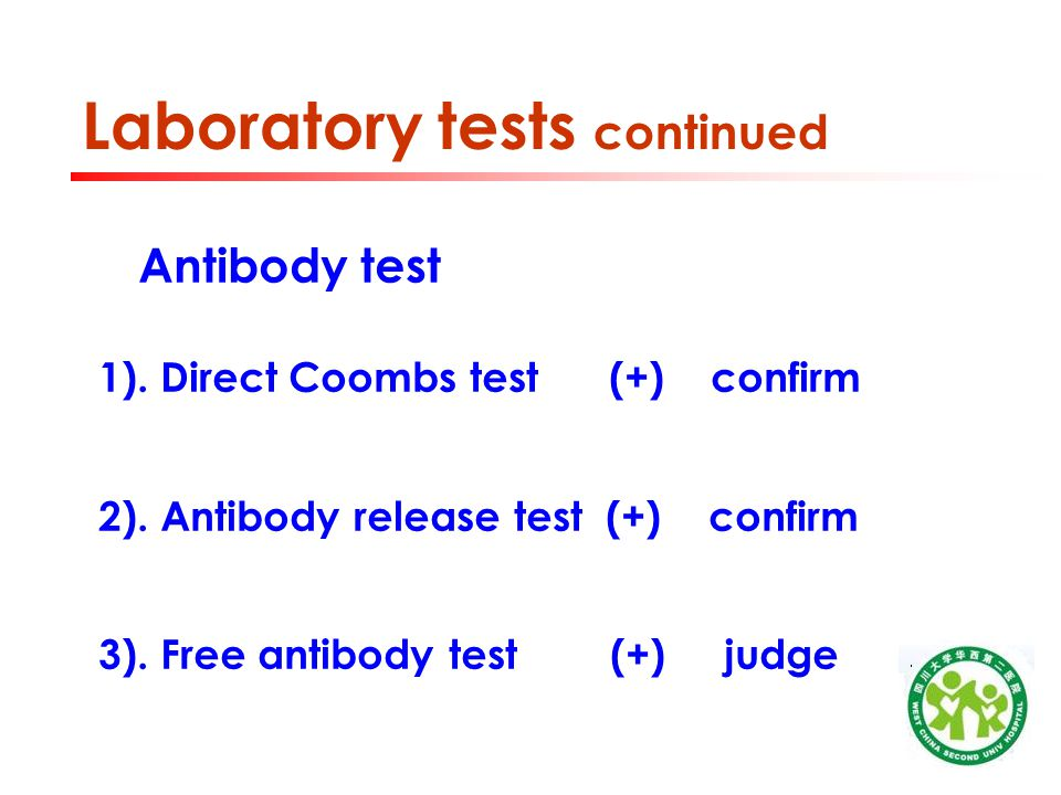 Laboratory tests continued