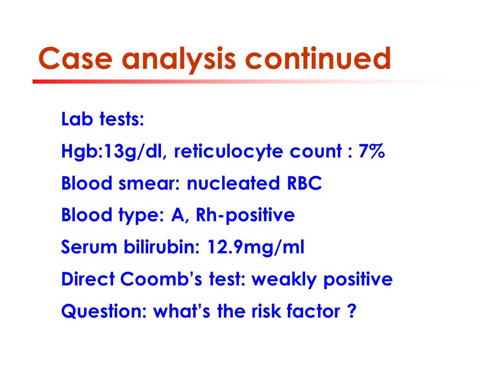 Case analysis continued