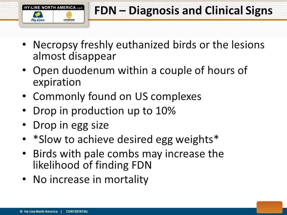 FDN – Diagnosis and Clinical Signs