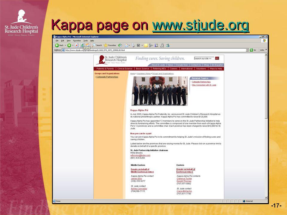 Kappa page on www.stjude.org