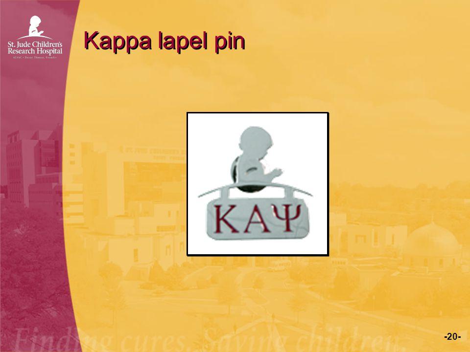 Kappa lapel pin
