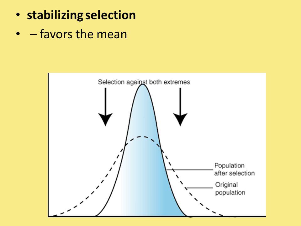 stabilizing selection