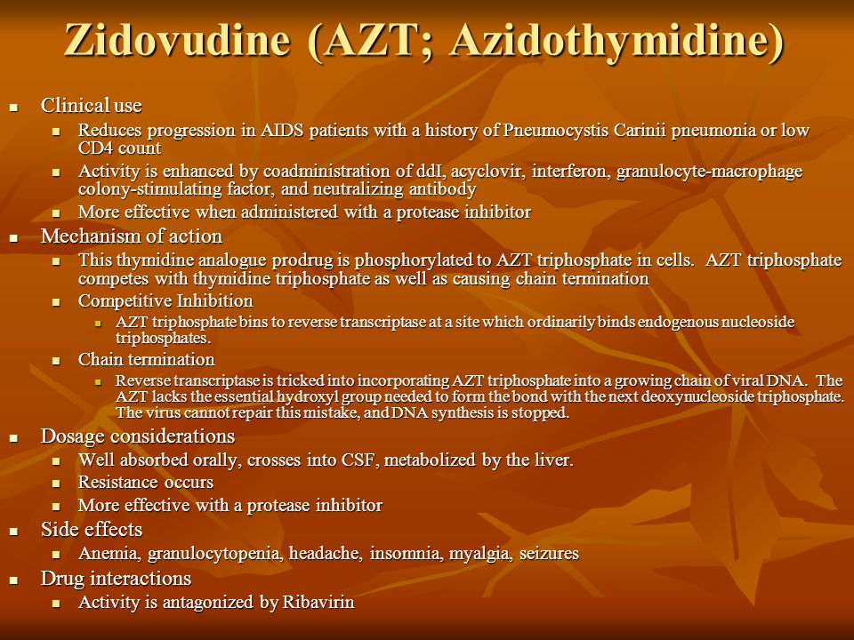 Zidovudine (AZT; Azidothymidine)
