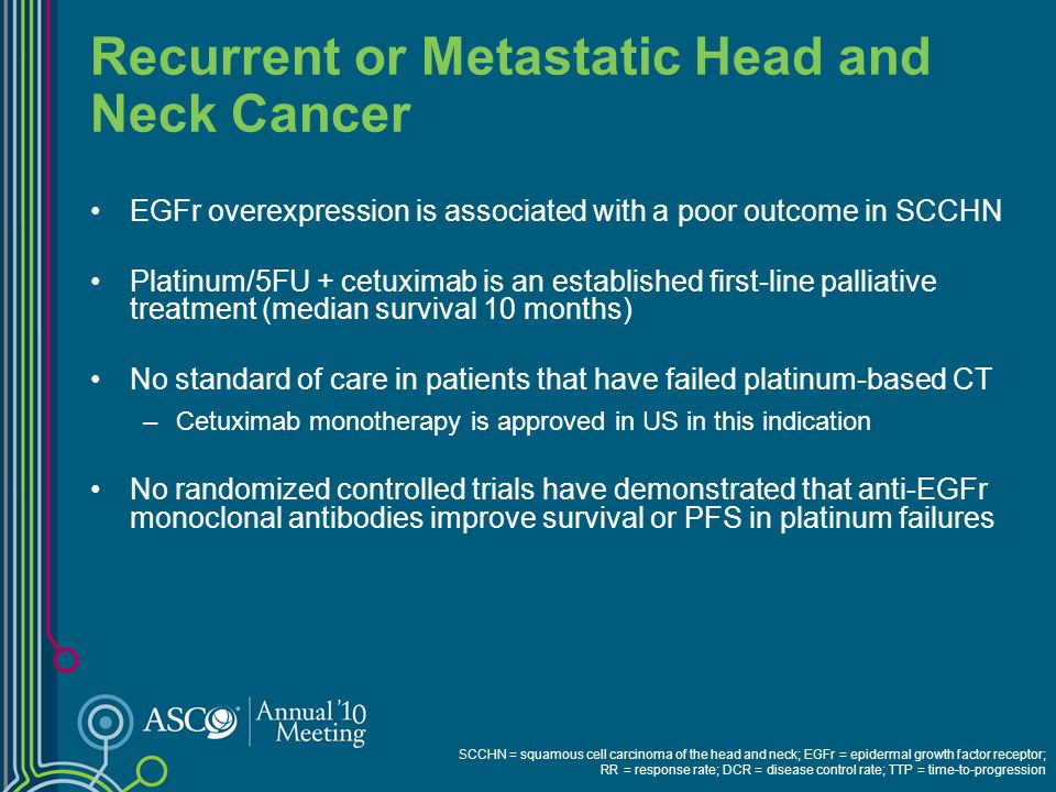 Recurrent or Metastatic Head and Neck Cancer