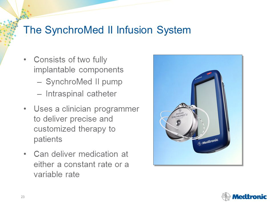 The SynchroMed II Infusion System