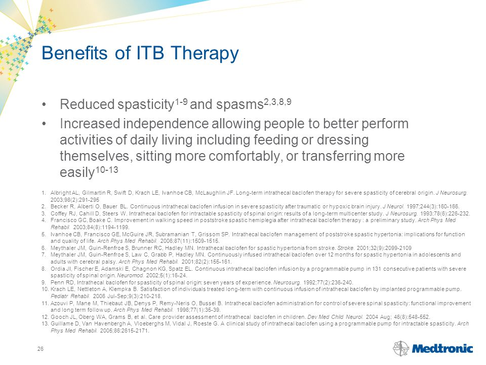 Benefits of ITB Therapy