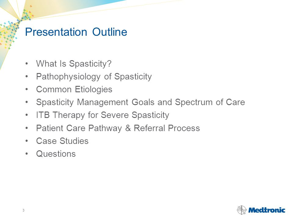 Presentation Outline What Is Spasticity Pathophysiology of Spasticity