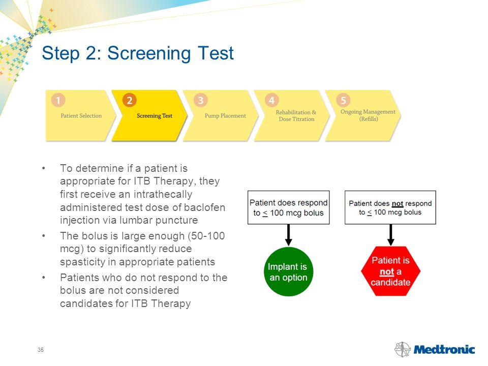 Step 2: Screening Test