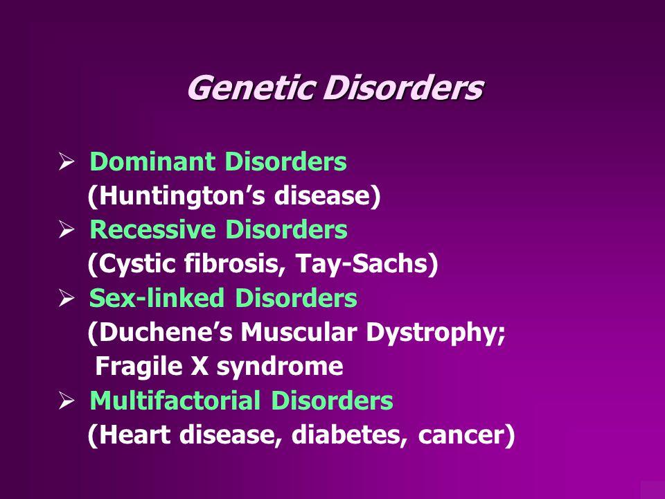 Genetic Disorders Dominant Disorders (Huntington's disease)