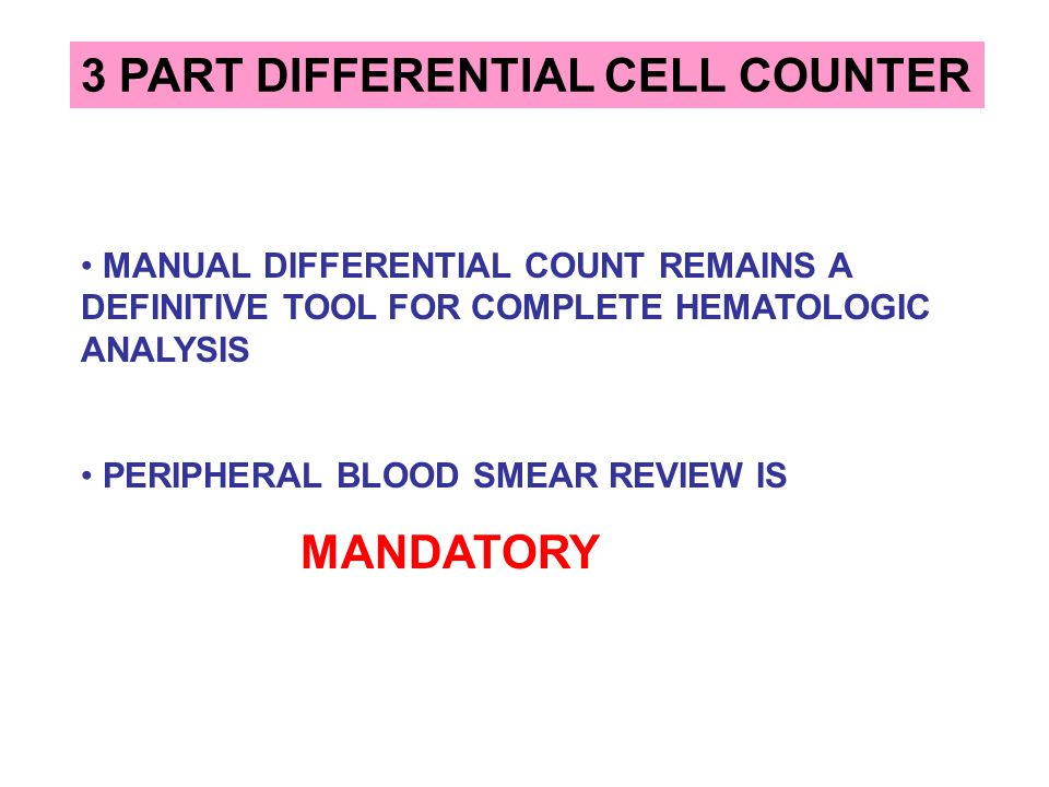3 PART DIFFERENTIAL CELL COUNTER