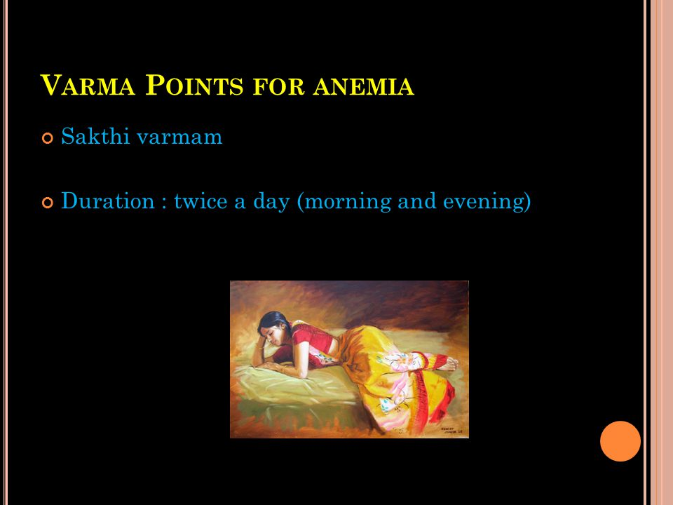 Varma Points for anemia
