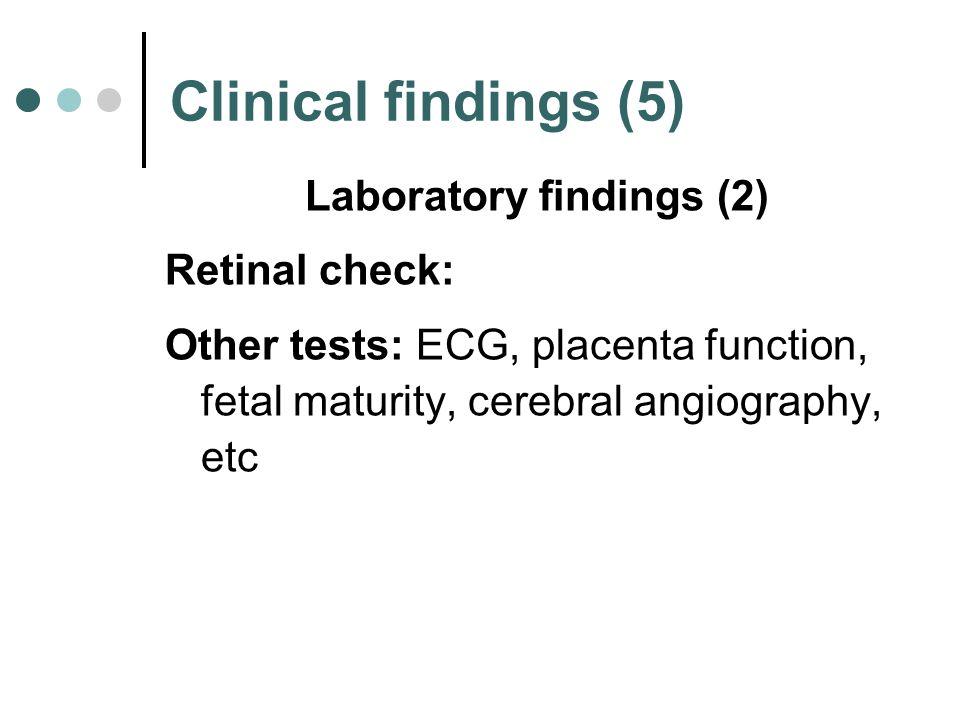 Laboratory findings (2)