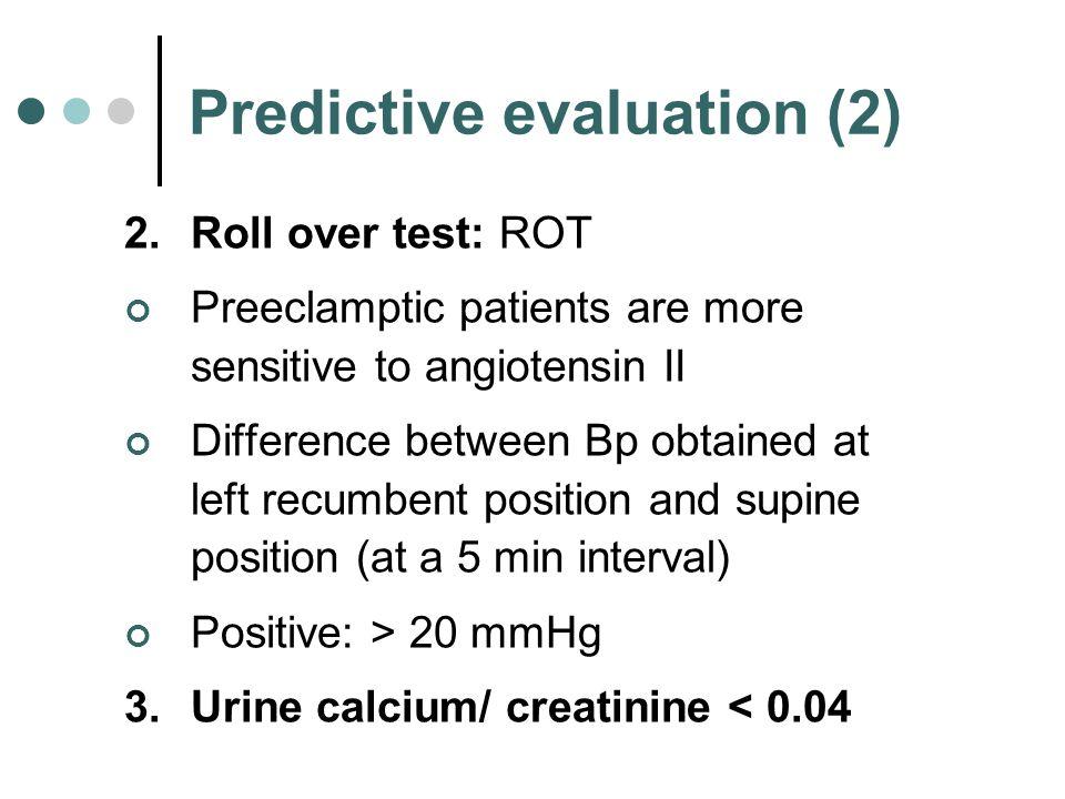 Predictive evaluation (2)
