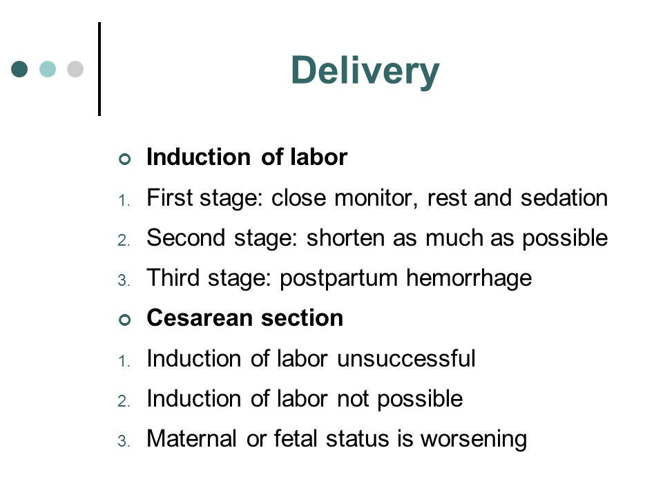 Delivery Induction of labor