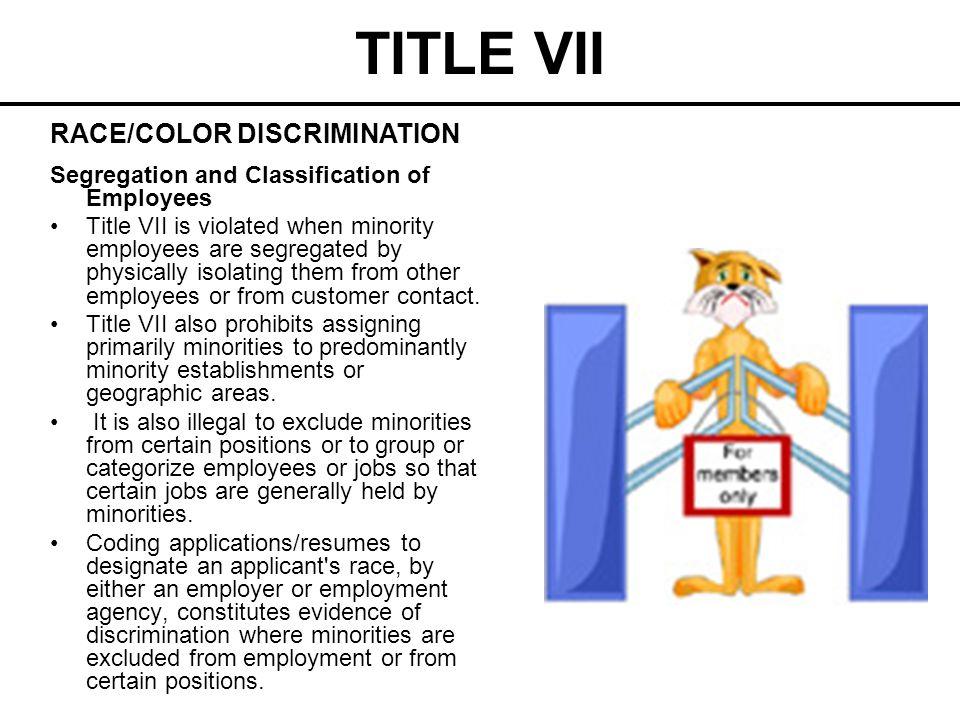TITLE VII RACE/COLOR DISCRIMINATION