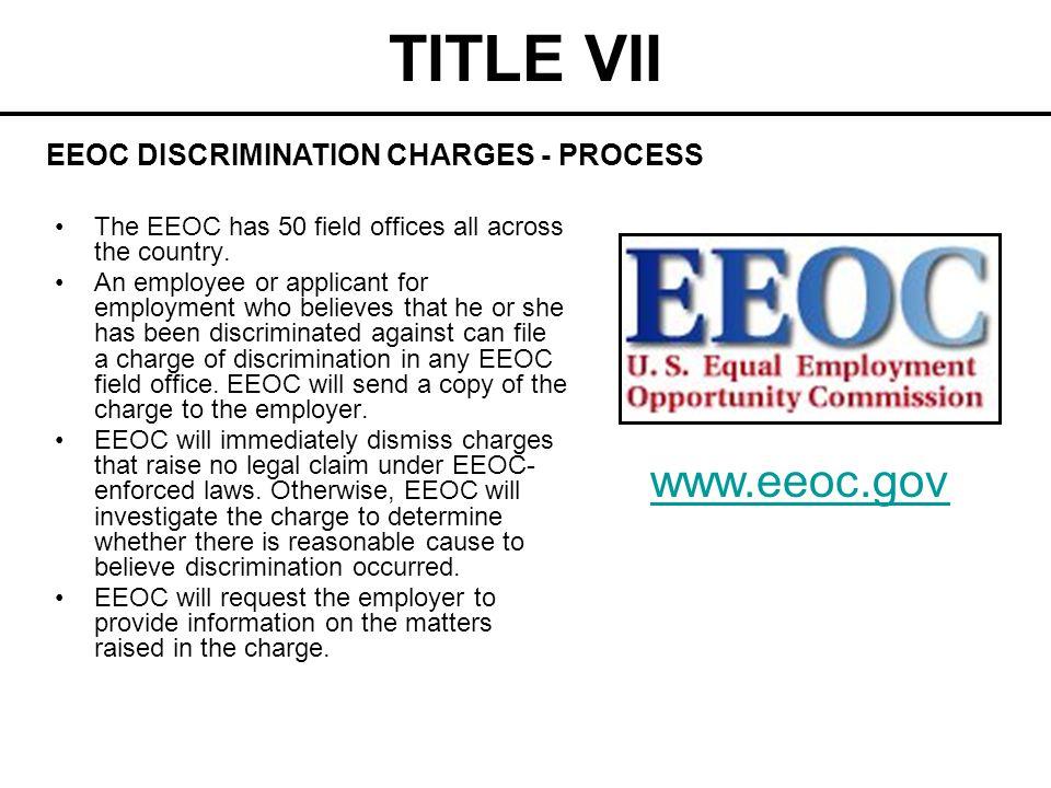TITLE VII www.eeoc.gov EEOC DISCRIMINATION CHARGES - PROCESS
