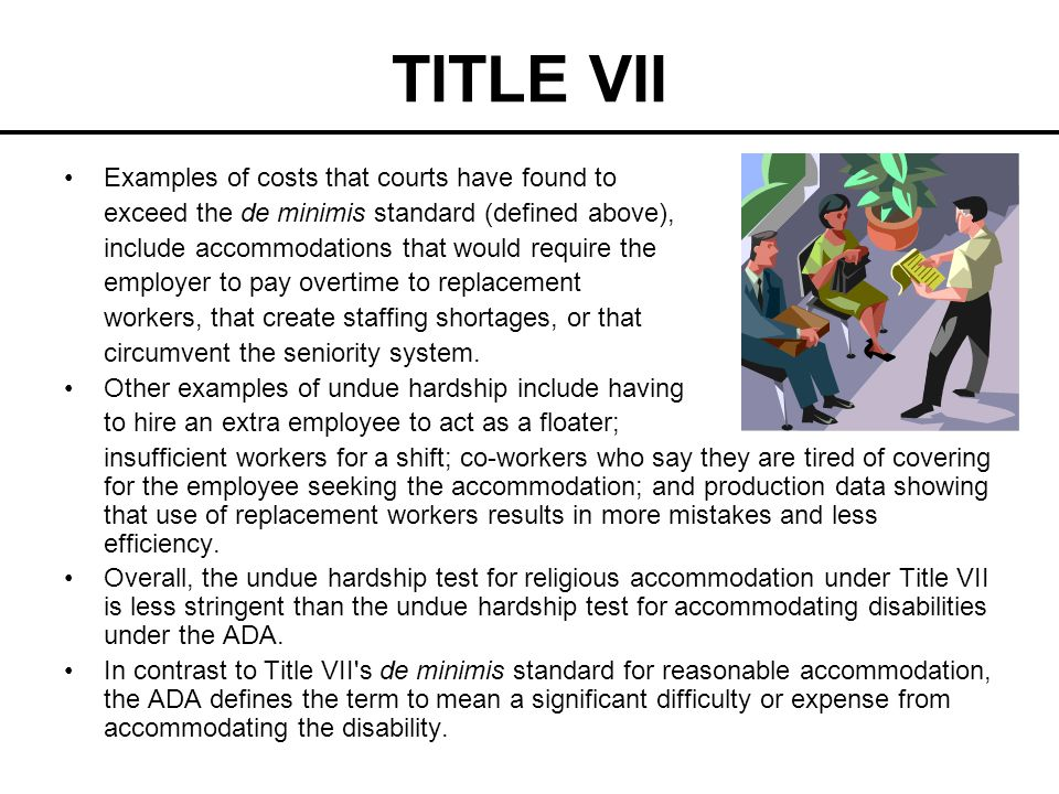 TITLE VII Examples of costs that courts have found to