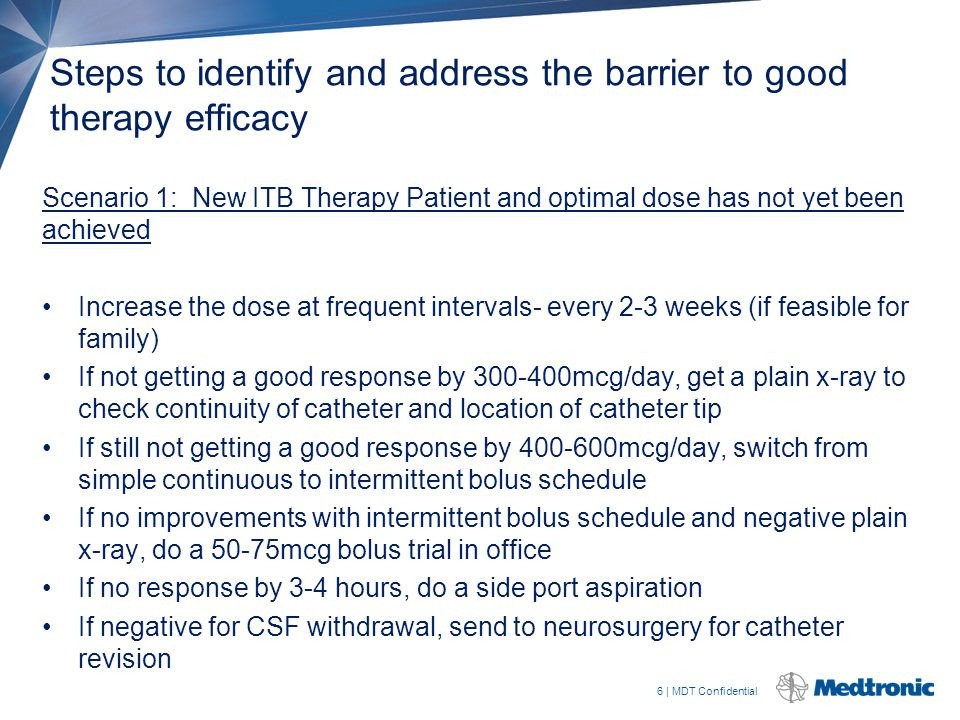 Steps to identify and address the barrier to good therapy efficacy