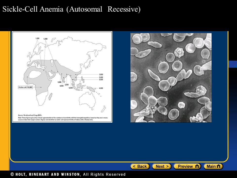 Sickle-Cell Anemia (Autosomal Recessive)