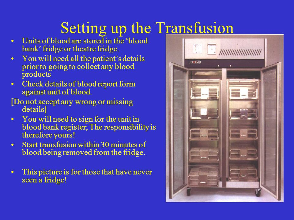 Setting up the Transfusion