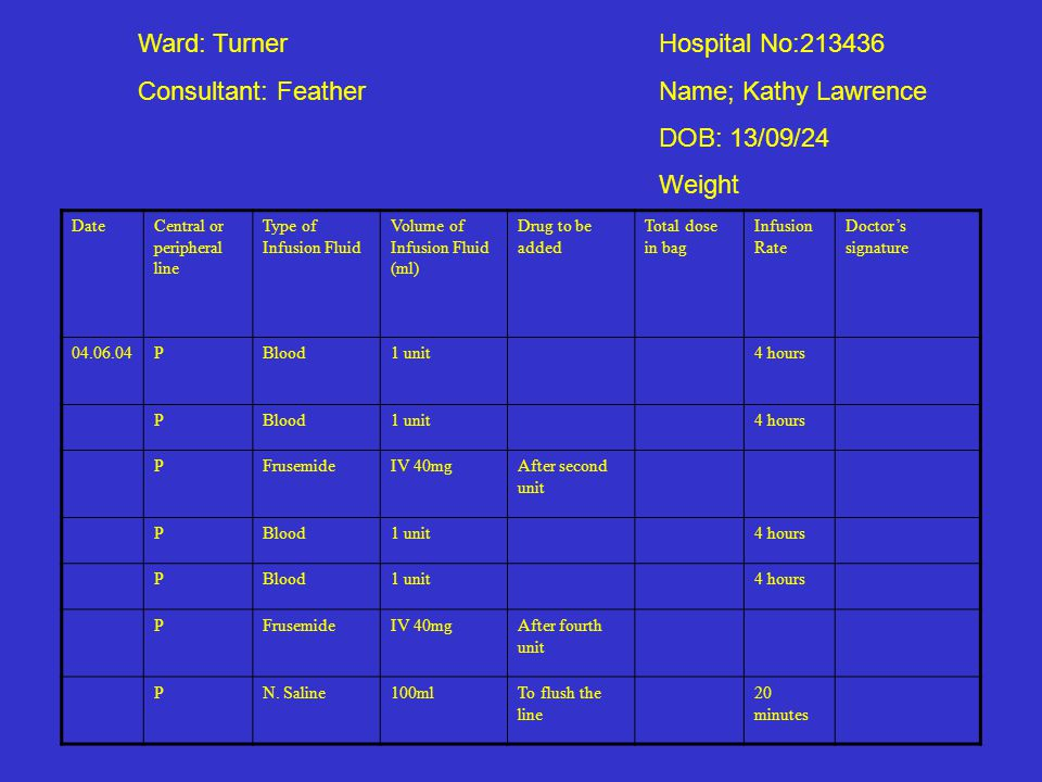 Ward: Turner Hospital No:213436