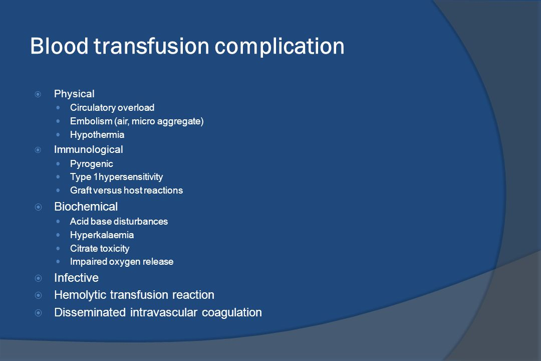 Blood transfusion complication